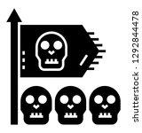 spooky flag  halloween party... | Shutterstock .eps vector #1292844478