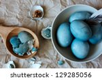 Blue Textured Easter Eggs....