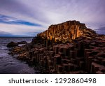 giant's causeway with overcast... | Shutterstock . vector #1292860498