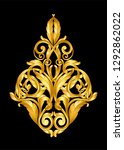 gold vintage ornament  frame... | Shutterstock .eps vector #1292862022