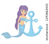 mermaid and anchor design | Shutterstock .eps vector #1292863432