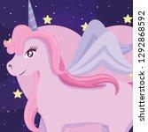 cute unicorn design   Shutterstock .eps vector #1292868592