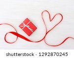 holiday background with gift...   Shutterstock . vector #1292870245