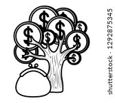 money tree icon | Shutterstock .eps vector #1292875345