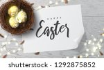 happy easter greeting banner.... | Shutterstock .eps vector #1292875852