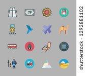 sunrise icon set. vector set... | Shutterstock .eps vector #1292881102