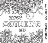happy mother's day coloring...   Shutterstock .eps vector #1292881795