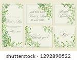wedding invitation frame set ... | Shutterstock .eps vector #1292890522