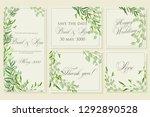 wedding invitation frame set ... | Shutterstock .eps vector #1292890528