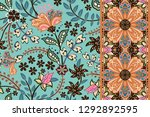 set of seamless floral pattern... | Shutterstock . vector #1292892595