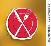 fork  knife and plate sign....   Shutterstock .eps vector #1292900998