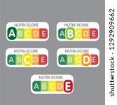 nutri score franch system.... | Shutterstock .eps vector #1292909662