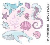 underwater cartoon travel... | Shutterstock .eps vector #1292914288
