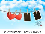 holiday background with a red... | Shutterstock .eps vector #1292916025