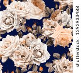 seamless floral pattern with... | Shutterstock . vector #1292933488