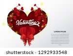 valentines day sale background... | Shutterstock .eps vector #1292933548