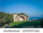 ruined castle on the coast of... | Shutterstock . vector #1292937262