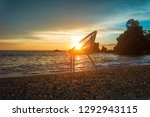 art photo with a chair at... | Shutterstock . vector #1292943115