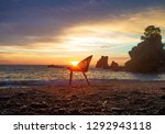 art photo with a chair at... | Shutterstock . vector #1292943118