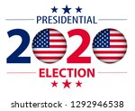 2020 united states of america... | Shutterstock .eps vector #1292946538
