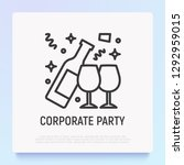 open bottle of champange and...   Shutterstock .eps vector #1292959015