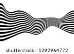 black and white curved line ... | Shutterstock .eps vector #1292964772