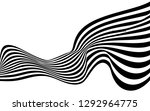black and white curved line ... | Shutterstock .eps vector #1292964775