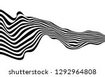 black and white curved line ... | Shutterstock .eps vector #1292964808