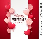 valentines day banner. holiday... | Shutterstock .eps vector #1292967088