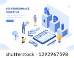 key performance indicator. can... | Shutterstock .eps vector #1292967598