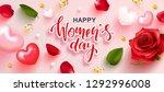 8 march happy women's day... | Shutterstock .eps vector #1292996008