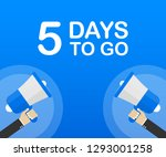 5 days to go flat icon on blue...   Shutterstock .eps vector #1293001258