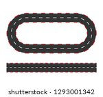 rally races line track or road... | Shutterstock .eps vector #1293001342