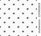 doodle dots grey pattern.... | Shutterstock .eps vector #1293002818