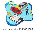 isometric car insurance... | Shutterstock .eps vector #1293009982
