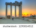 the temple of apollo in side at ... | Shutterstock . vector #1293014512