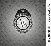 electrocardiogram icon inside... | Shutterstock .eps vector #1293015742