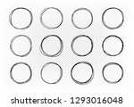 hand drawn circle  set of... | Shutterstock .eps vector #1293016048