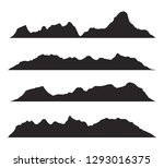 mountains silhouettes on the... | Shutterstock .eps vector #1293016375