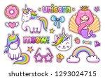 magic unicorn  cat  cute... | Shutterstock .eps vector #1293024715