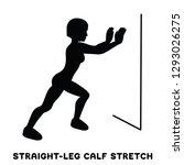 straight leg calf stretch....   Shutterstock .eps vector #1293026275