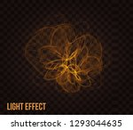 light effect  glowing wave... | Shutterstock .eps vector #1293044635