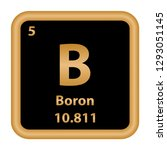 boron element from the periodic ... | Shutterstock .eps vector #1293051145