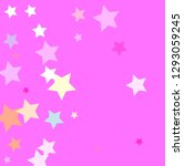 pastel colorful stars on pinky... | Shutterstock .eps vector #1293059245
