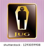 gold badge or emblem with dead ... | Shutterstock .eps vector #1293059908