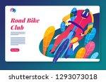 road bike racing event poster... | Shutterstock .eps vector #1293073018