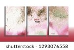 vector cards. set of templates... | Shutterstock .eps vector #1293076558