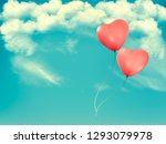valentine heart shaped baloons... | Shutterstock .eps vector #1293079978