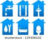 plumbing set of bathroom and...