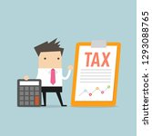 businessman standing with tax... | Shutterstock .eps vector #1293088765